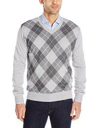 Perry Ellis Men's Long Sleeve Argyle V-Neck Sweater @ Sunshine JMC
