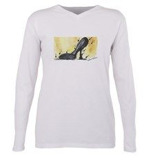 Musical Shoe Plus Size Long Sleeve Tee