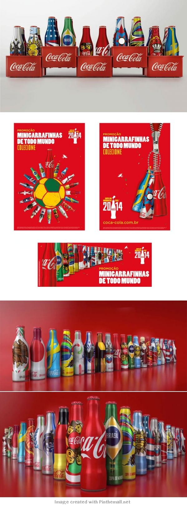 #Coca-Cola Releases Special Edition #WorldCup 2014 Mini Bottle #packaging PD