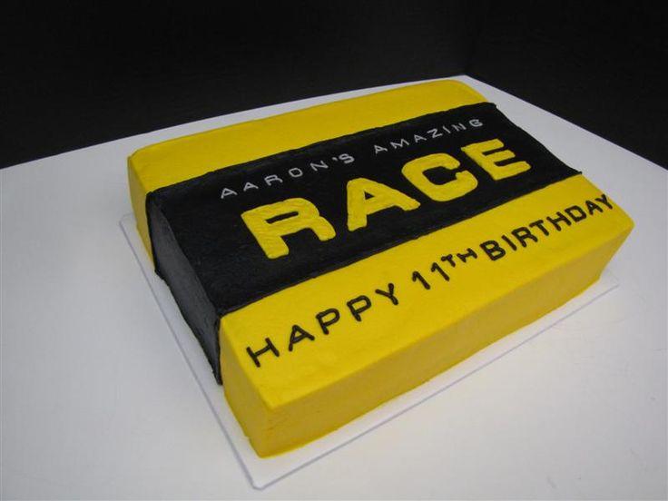 Amazing Race Birthday Cake | 9x13 all buttercream. | Flickr