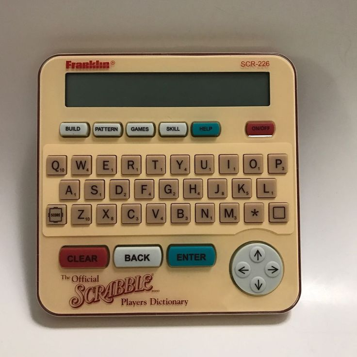 Franklin SCR226 Scrabble Players Electronic Dictionary 1995 #Franklin