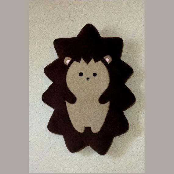 Hedgehog Pillow 23.6 60cm   Plushie  Plush Pillow   by Martilio
