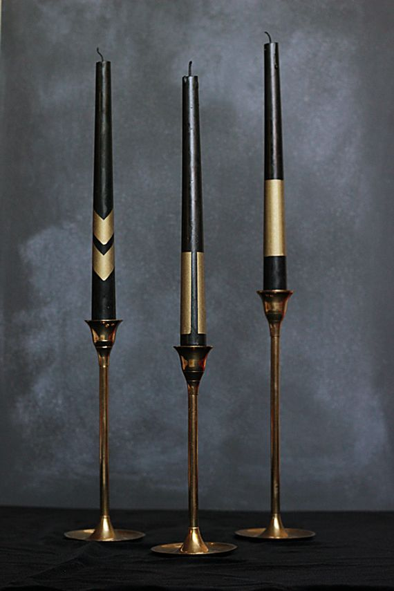 awesome black and gold tapers
