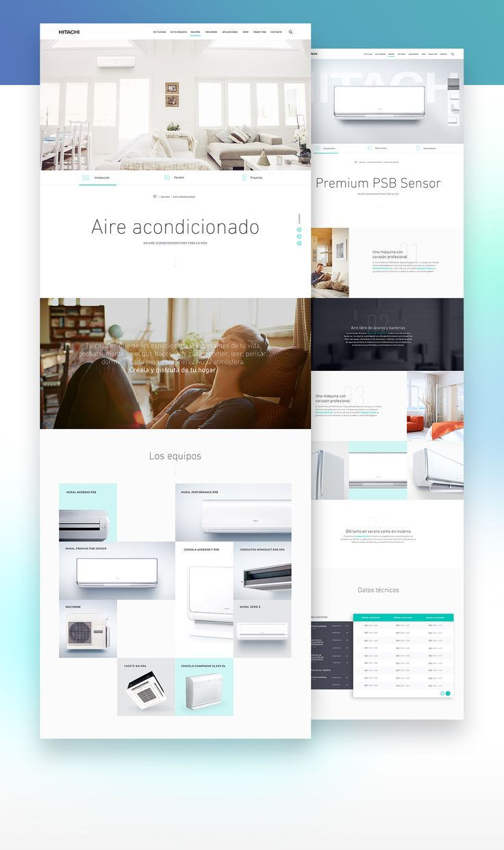 UX, UI, interaction design & front-end and back-end development for Hitachi Spain corporate site.