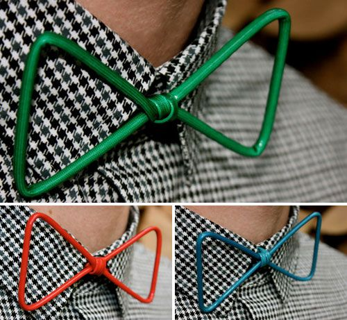 Wire Bow Ties - You can make these with aluminum wire!