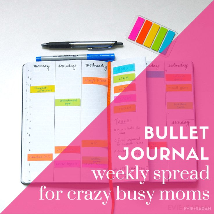 Bullet Journal Weekly Spread for Crazy Busy Moms