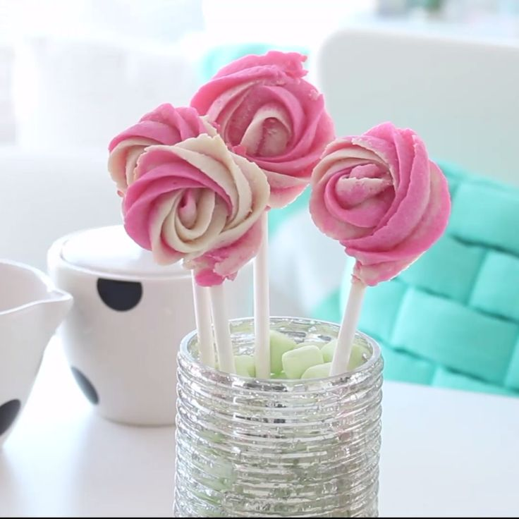 Sweet and buttery rose-shaped cookies – serve these in a vase for an edible bouquet!