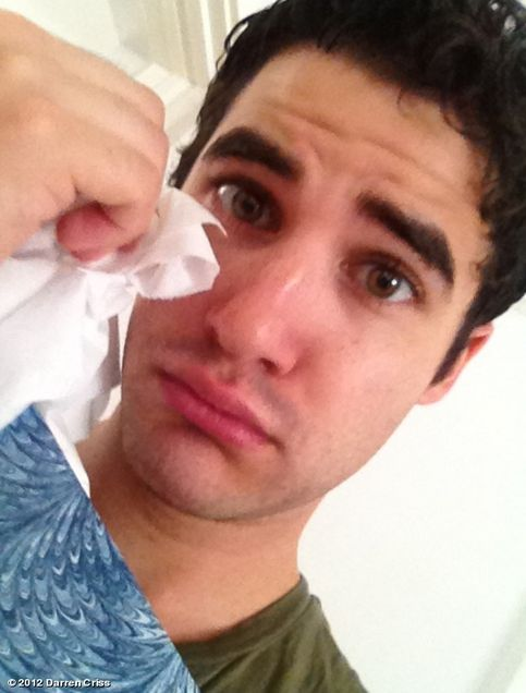 Darren Criss Cry's Over Glee