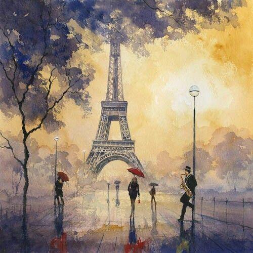 Love it! Eiffel Tower painting. Paris love.
