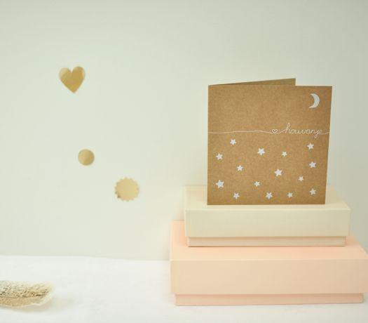 Tot de maan en terug - geboortekaartje via speciale-geboortekaartjes.nl