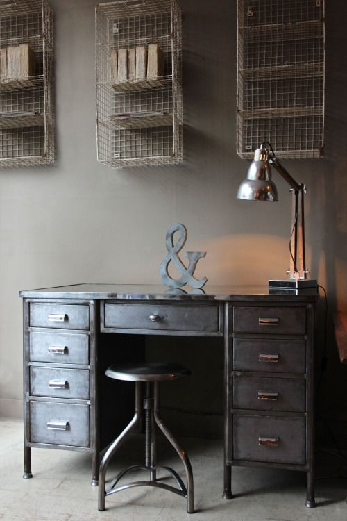 Just in from the workshop…. Vintage Industrial Desk. (attic.©2014) www.discoverattic.com