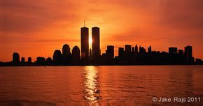 NYC, NY, Sunrise Between Twin Towers, World Trade Center, … | Flickr