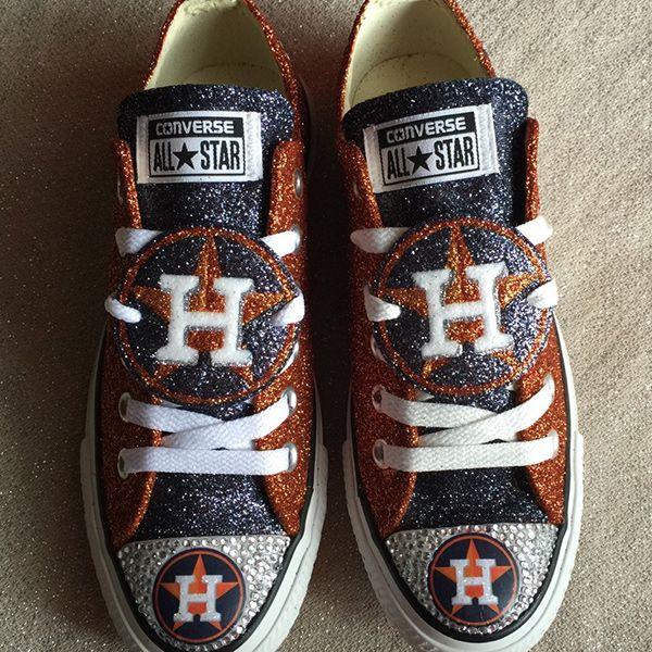 Houston Astros Converse Shoes - http://cutesportsfan.com/houston-astros-designed-sneakers/