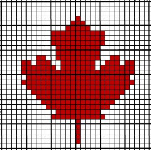 Coffee Crochet: Crochet Chart ~ Maple Leaf