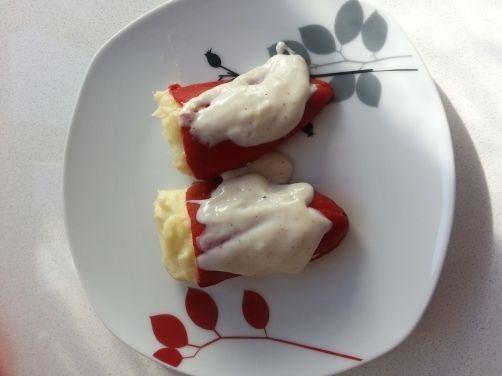 Pimientos del piquillo rellenos de bacalao para #Mycook http://www.mycook.es/receta/pimientos-del-piquillo-rellenos-de-bacalao/