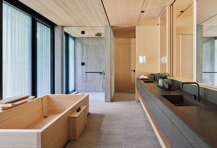 Aman Kyoto Kyoto Japan Japanese Style Bathroom Luxury Hotel Room Interior Trend