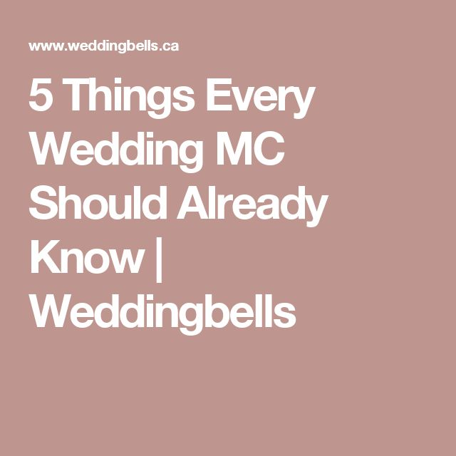 5 Things Every Wedding MC Should Already Know | Weddingbells
