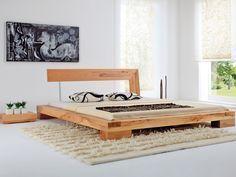 BALKENBETT Haineck - modern wood bed designs
