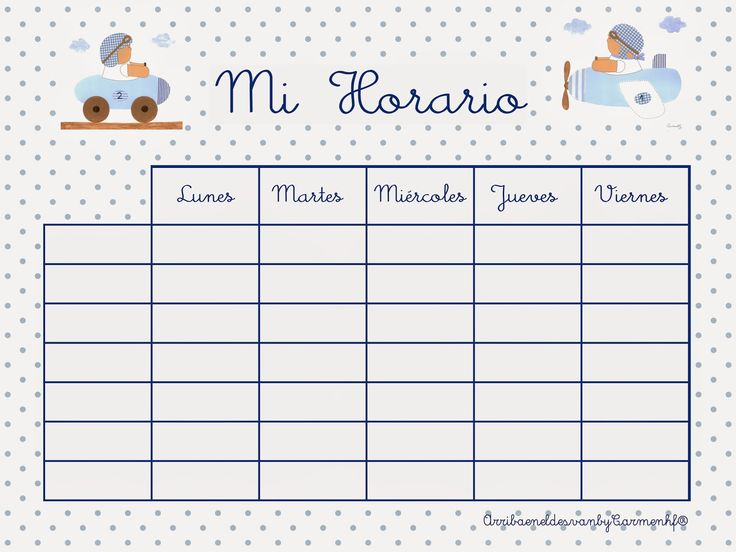 The 11 best HORARIO images on Pinterest | Classroom schedule, School ...