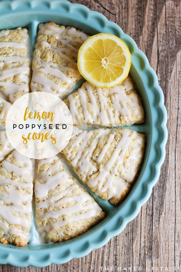 the baker upstairs: lemon poppyseed scones