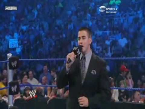 WWE Smackdown 8/7/09 Jeff Hardy vs CM Punk 1/2