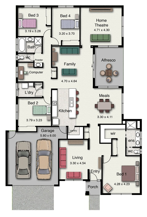32 best nice plan images on pinterest 3d house plans apartment