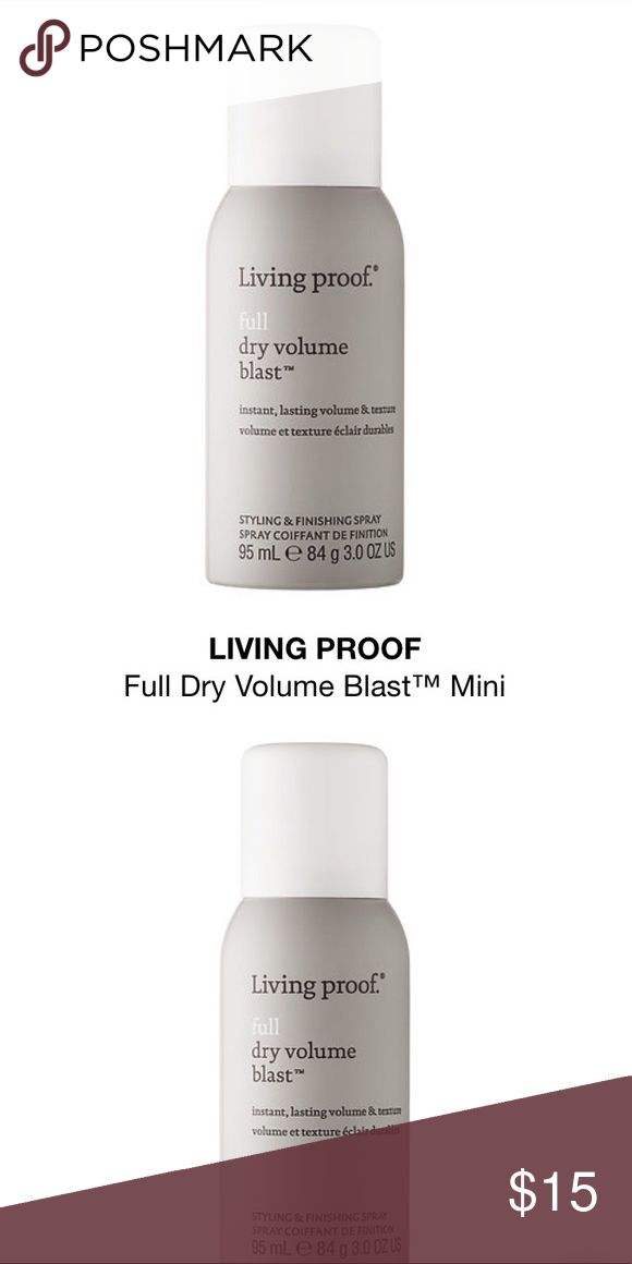 Living Proof Full Dry Volume Blast A spray to give hair instant volume and texture that's almost as light as air for big, lasting results.   - Creates instant volume and fullness on dry hair - Adds texture   Living Proof Full Dry Volume Blast is a volume and texture spray that contains patent-pending expandable, textured aero-spheres called ETAS. They're lighter and bigger than industry standard ingredients, so they deliver big volume and texture on your hair without weighing it down or…