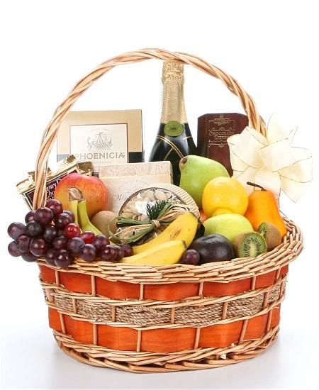 Champagne Fruit Gourmet Elegantly filled with fresh fruit gourmet foods and champagne. $123.95