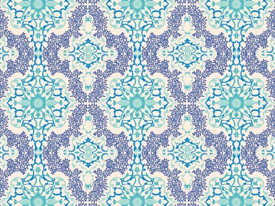 """Persian blues"" by momotaro HopeFull, Iran, Persia, cambridge blue, cobalt, cream, horizon, ultramarine"