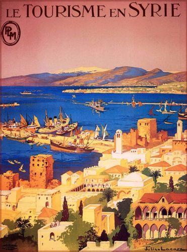 Le-Tourisme-En-Syrie-Syria-Vintage-Railway-Travel-Advertisement-Poster-Print