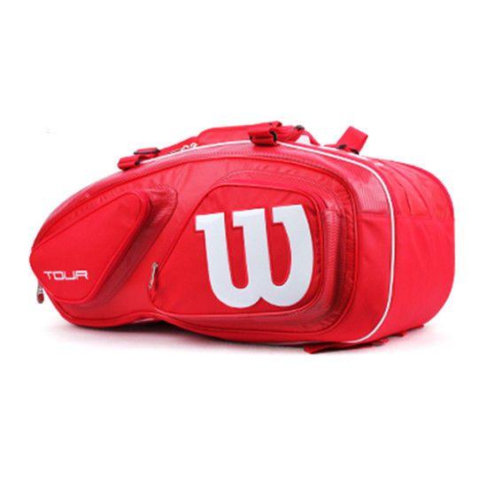Wilson Tour V Tennis Red 15 Pack Racquet Racket Bag WRZ-867615  #Wilson