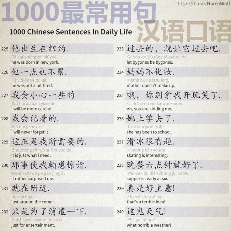 1000 Chinese Sentences In Daily Life - Part 15
