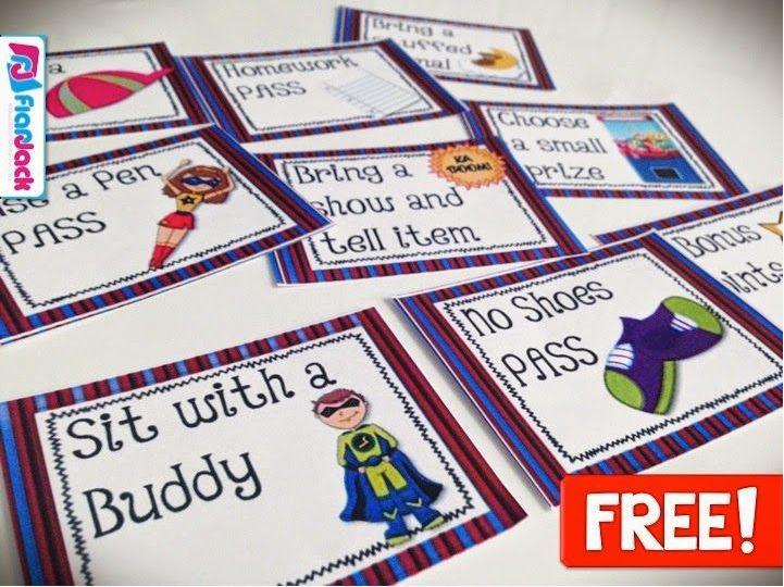 Free Superhero Positive Behavior Coupons  #ClassroomFreebies