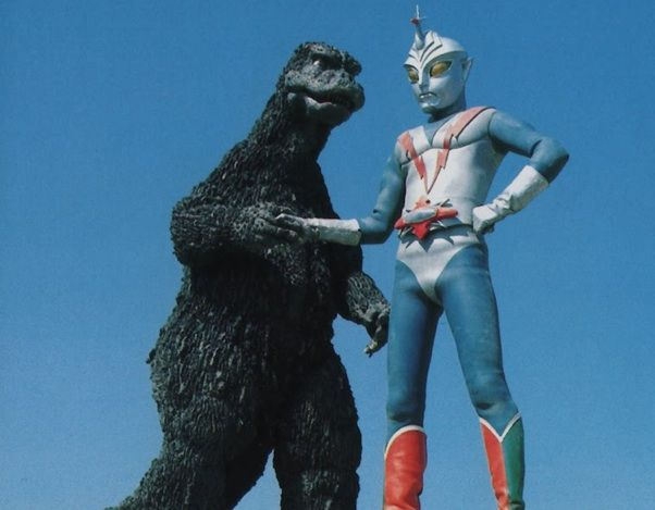Godzilla and his BFF Zone Fighter