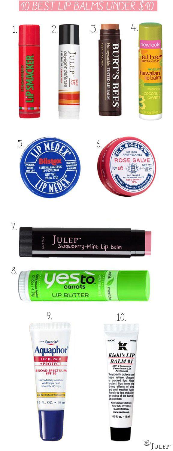 10 best lip balms under $10