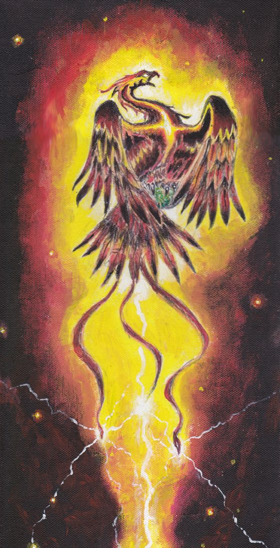 Phoenix Thunder/Hokioi This is a painting I made as part of series.