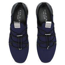Buy Carvela Lindsey Fabric Trainers, Navy Online at johnlewis.com