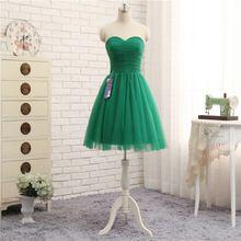 H07 Verde Vestidos de Noite Curto 2017 Vestido De Festa Formal Pageant Evening Party Dress Robe De Soiree Real Da Foto Do Vintage barato alishoppbrasil