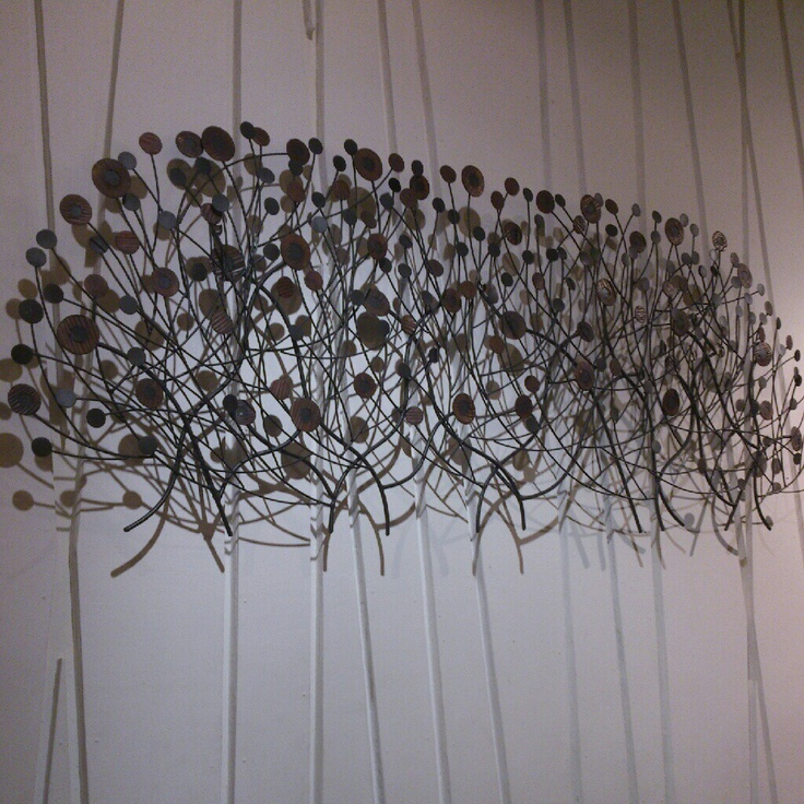 Leaves and branches on the wall