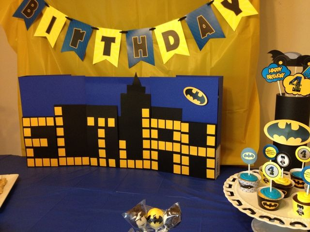 Batman Theme Birthday Party Birthday Party Ideas