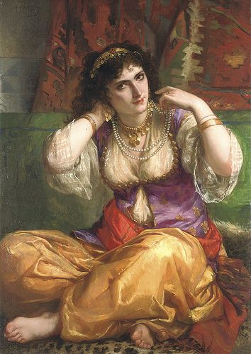 """Charles Louis Lucien Müller (French, 1815-1892), """"The odalisque"""" 