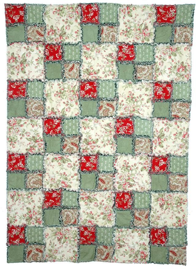 This easy rag quilt pattern is a breeze to assemble. Give it a try the next time you're looking for a simple quilting project.