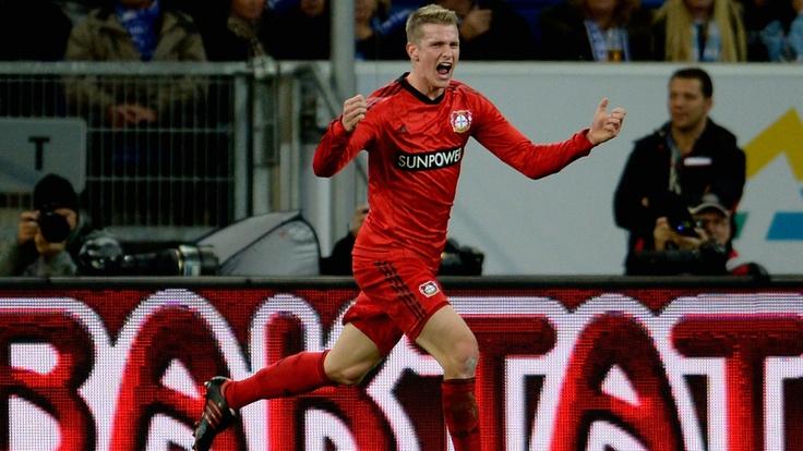 Lars #Bender (Bayer 04 Leverkusen)  Lars Bender of Bayer 04 Leverkusen celebrates after scoring his team's first goal during the German Bundesliga match against TSG 1899 Hoffenheim