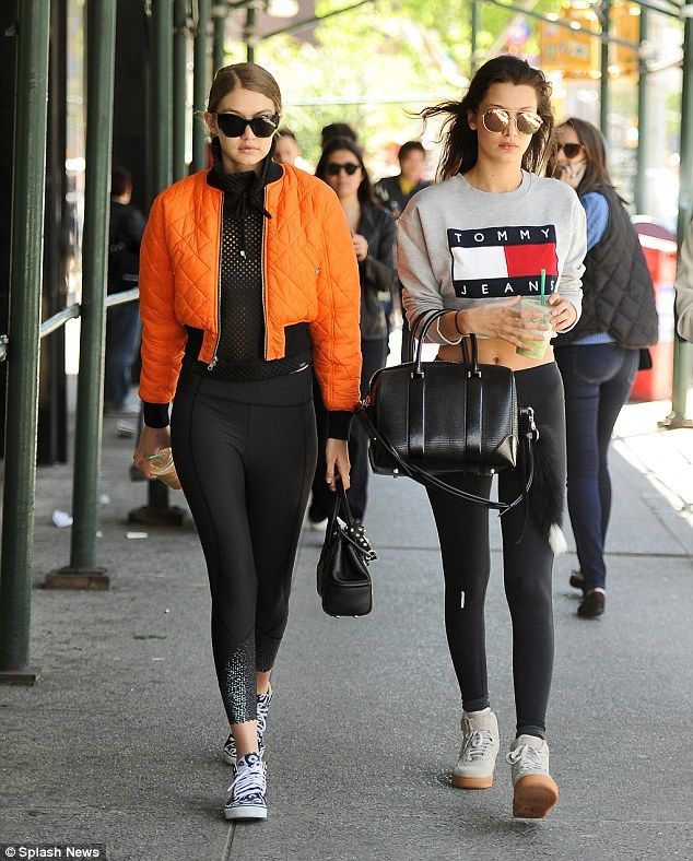 Gigi and Bella Hadid step out side by side in NYC as they thank 'inspiring' mom Yolanda on Mother's Day | Daily Mail Online