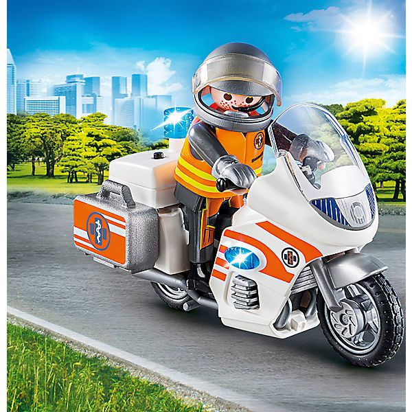 PLAYMOBIL® 70051 Notarzt Motorrad mit Blinklicht   Playmobil