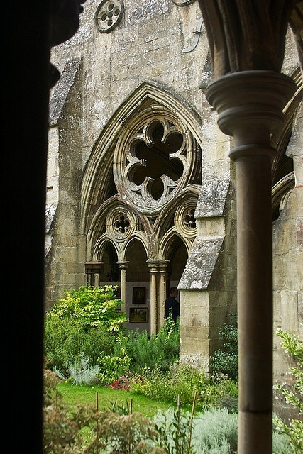 Salisbury Cathedral Cloisters by RobRoyAus, via Flickr