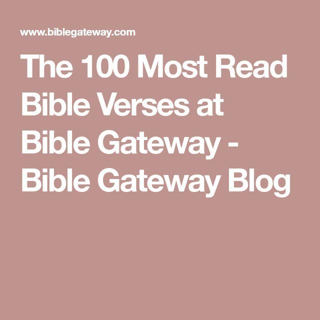 The 100 Most Read Bible Verses at Bible Gateway - Bible Gateway Blog