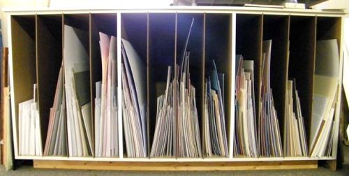 Used Mat Board Custom Cabinet, Art Framing Materials Equipment