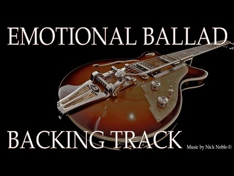 Sad Slow Instrumental Guitar Ballad Backing Track - YouTube