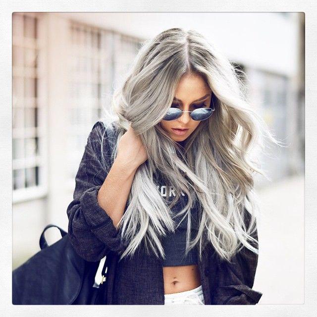 Grey hair #beboldbebeautiful #fashioncolours